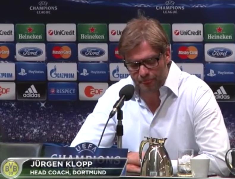 Jürgen Klopp - Lippen lecken