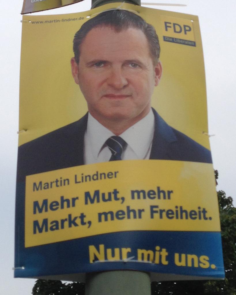 Wahlplakat Bundestagswahl 2013 - Martin Lindner, FDP