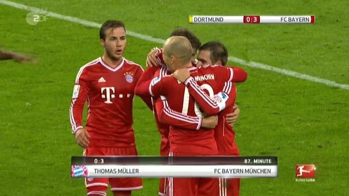 Mario Götze nach dem 3:0 durch Thomas Müller