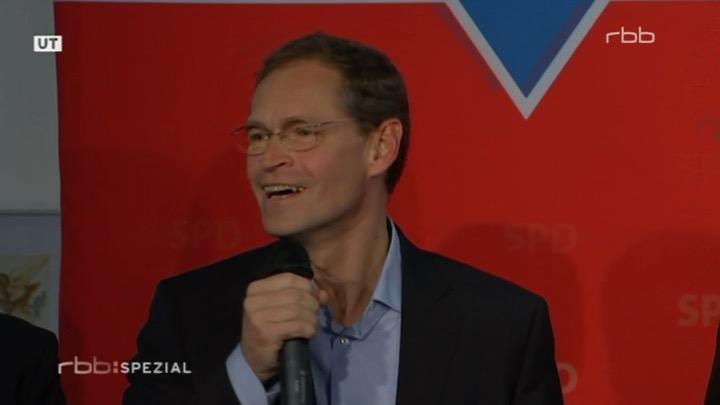 Michael Müller nach dem Sieg - die Augen lachen mit, ein Zeichen echter Freude