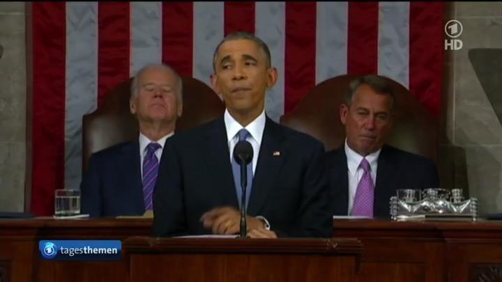 Das Hochziehen der Augenbrauen-Innenseiten setzt Obama standardmäßig ein, um Worte zu betonen.
